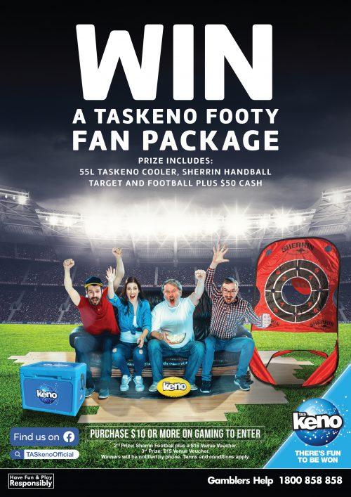 WIN a TASkeno Footy Fan Package