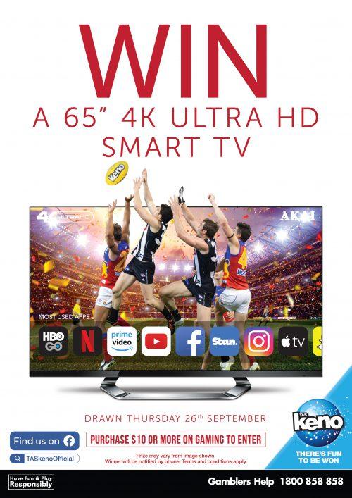 "WIN a 65"" 4K ULTRA HD TV"