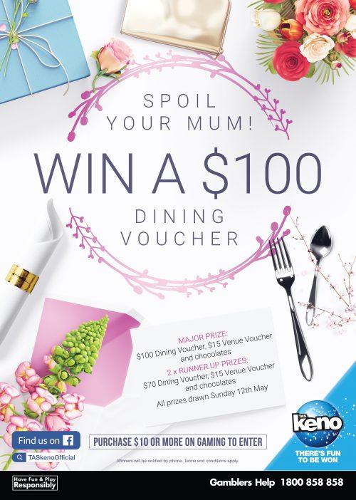 WIN a $100 Dining Voucher for Mum!