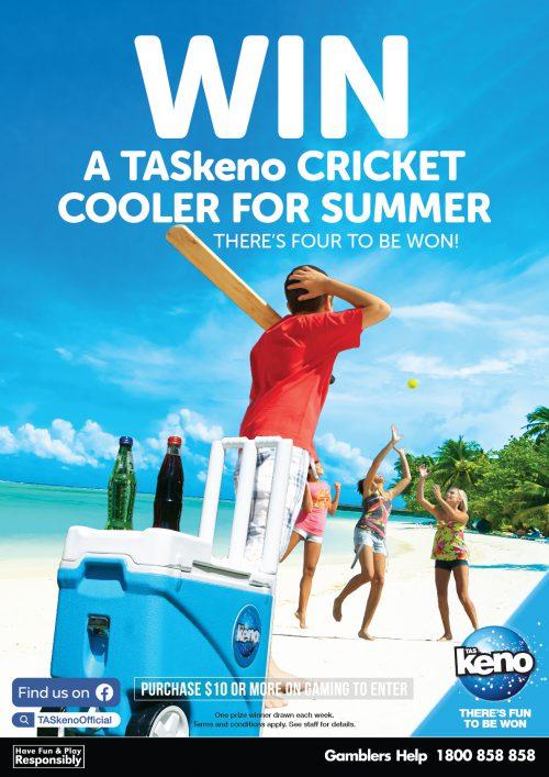 WIN a TASkeno Cricket Cooler for Summer!