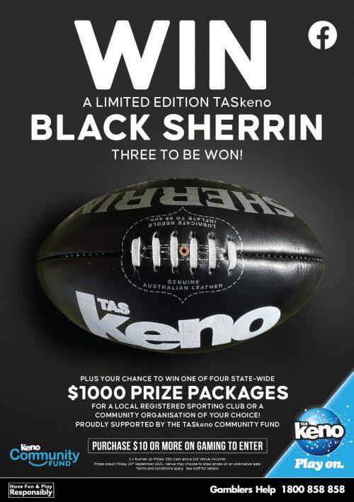 WIN a TASkeno Black Sherrin