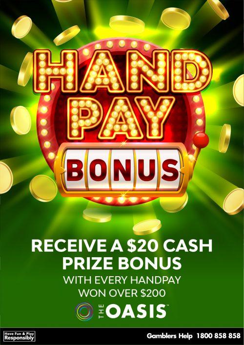 Hotel Tasmania Handpay Bonus